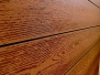 140mmx25mm Brushed Embossed Decking: Foxfire Brown